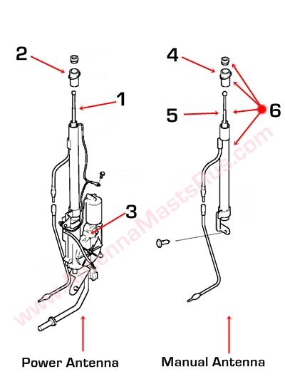 Hyundai Sonata 96253-38001 Power Antenna Mast 1998-2005 | 2005 Hyundai Sonata Power Antenna Wiring Schematic |  | 920-686-0644