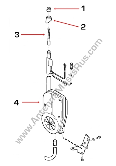 Power Antenna Mast,Power Radio Antenna Aerial AM FM OEM Replacement Mast Cable for 00-03 Volvo S40